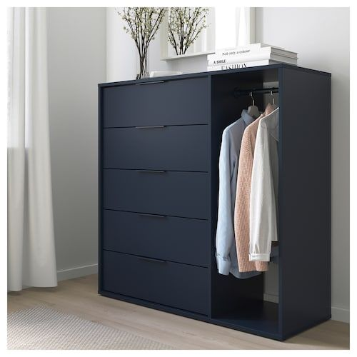 IKEA NORDMELA Chest of drawers with clothes rail in 2019 ...