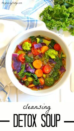 Cleansing Detox Soup || Immune-boosting, wholesome, vegan, oil free, and gluten free warming soup. Perfect for fighting off colds and flu while cleansing with natural, delicious immunity boosting whole foods. | healthy recipe