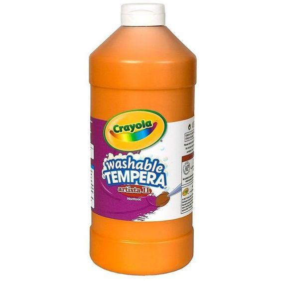 Check out Orange 16 oz washable tempera paint plastic squeeze bottle - Wholesale…