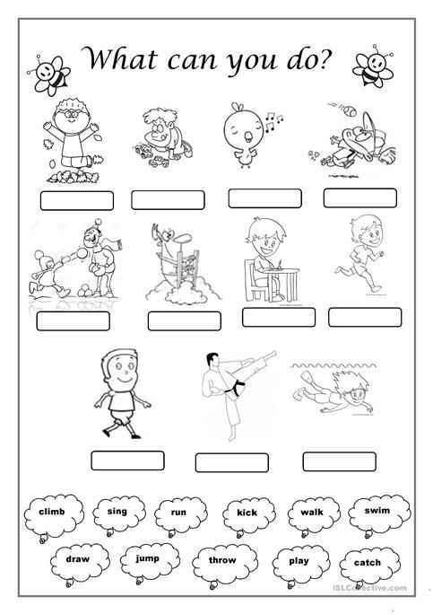 What Can You Do Action Verbs Worksheet Action Verbs Verb Worksheets
