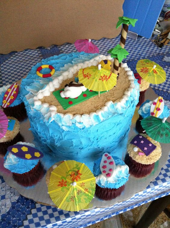Olaf in summer cake & cupcakes