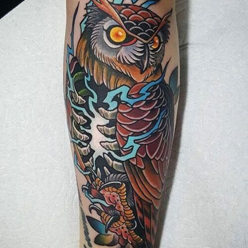 12 Japanese Owl Tattoo Designs And Ideas Petpress In 2020 Mens Owl Tattoo Owl Tattoo Sleeve Tattoos For Guys