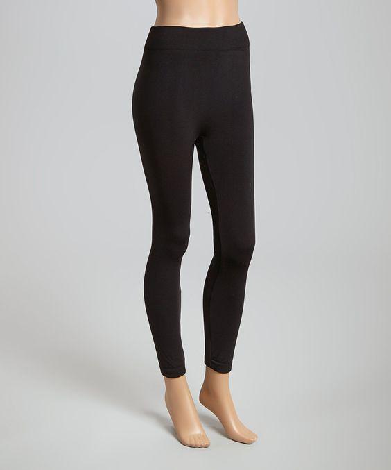 This Black Comfort Waist Fleece-Lined Leggings by MOESWEAR is perfect! #zulilyfinds