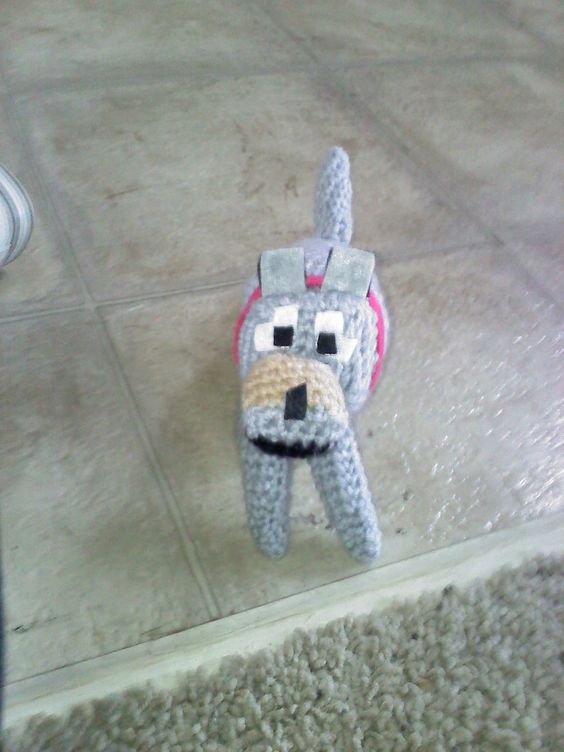 Crochet Wolf/Dog (Minecraft) by ~Maw1227 on deviantART Crochet Amigurumi ...