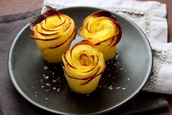 Receita passo a passo:  como fazer rosas de batatas?