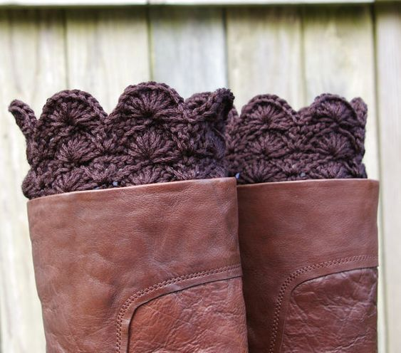 Boot Cuffs Crochet Boot Toppers Boot by CandacesCloset,