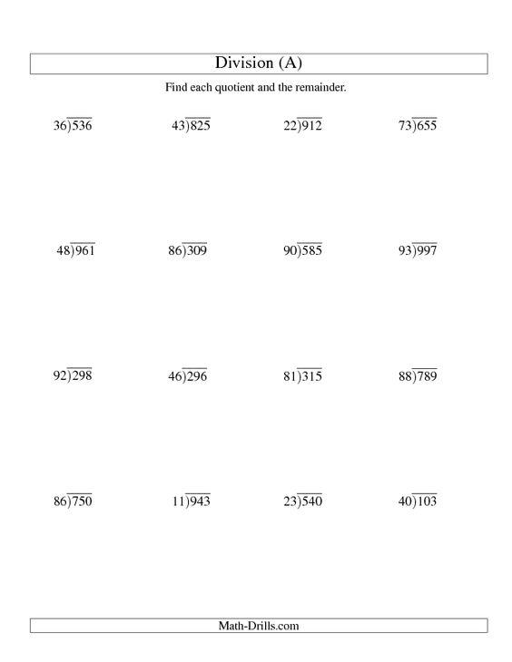 math worksheet : division worksheet  long division  two digit divisor and a  : 2 Digit Divisor Division Worksheets