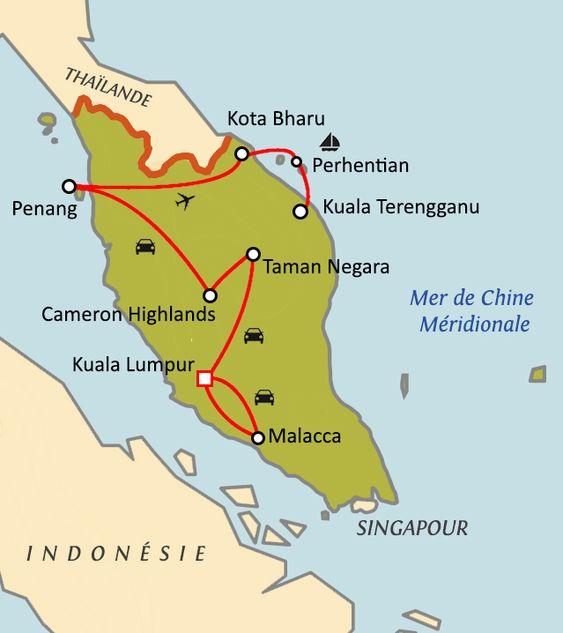 Carte du circuit Malaisie