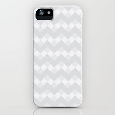 Pattern: Chevron Neue Gray and White iPhone 5 (and 4 and 3) Case by Jen Montgomery - Society 6