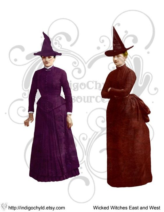 Wicked Witches of the East and West Digital JPG by indigochyld, $2.00
