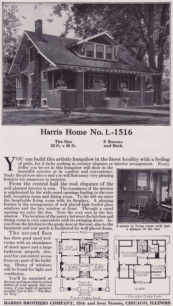 1918 Harris Bros. Co. - Plan No. L-1516