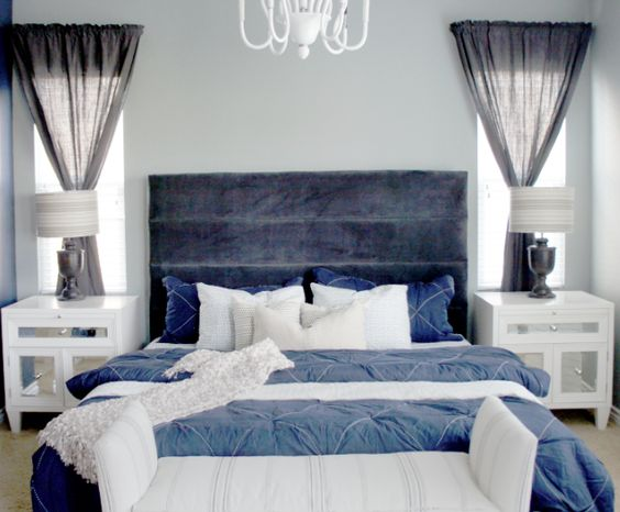 Cole Barnett Navy Blue And Gray Master Bedroom Remodel The Honeymoon Suite