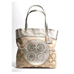 #coach handbags Coach 15013 Julia Op Art Perry Tote Pale Khaki Gold (Apparel): Art Perry, Coach 15013, Coach Handbags, Handbags Coach, 15013 Julia