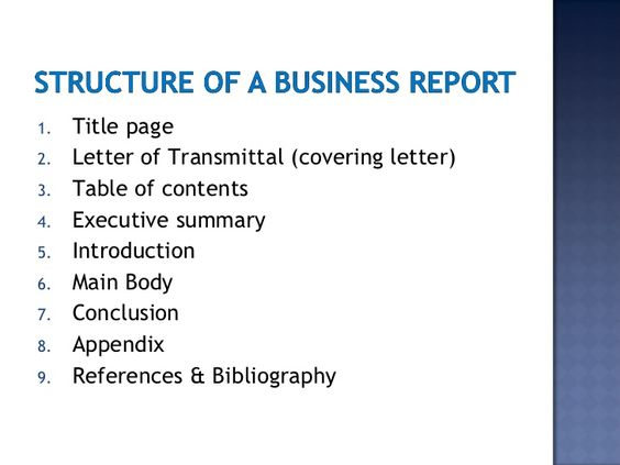 business report writing gallery images for executive summary - example letter of transmittal