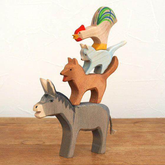 Ostheimer オストハイマー 木製 フィギュア ブレーメンの音楽隊セット オ Rakutenichiba 楽天 木のおもちゃ おもちゃ クリスマス おもちゃ