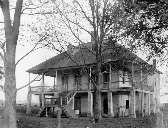 Fannie Riche Plantation House, New Roads Louisiana - description of building