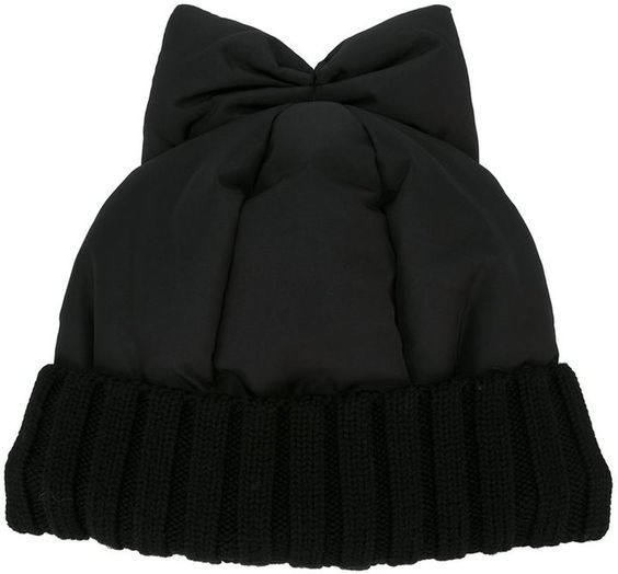 Federica Moretti bow detail beanie $74.79 | via @farfetch | #Chic Only #Glamour Always