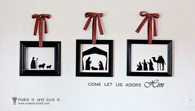 BEAUTIFUL nativity idea.