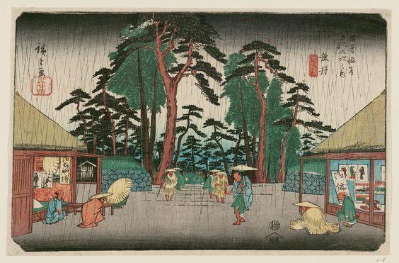 No. 58, Tarui, from the series The Sixty-nine Stations of the Kisokaidô Road (Kisokaidô rokujûkyû tsugi no uchi) - Hiroshige
