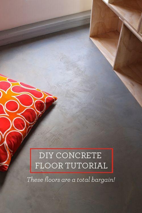 Diy Concrete Floor Cheap Home Diys Design Mom Betonboden Polierter Beton Diy Mobel Bauen