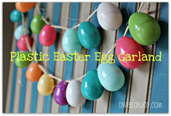 SUPER BONUS: Yyou could use the garland as a countdown to Easter, or make Resurrection Eggs by putting things inside of them and then numbering the outsides. Description from dwellonjoy.com. I searched for this on bing.com/images