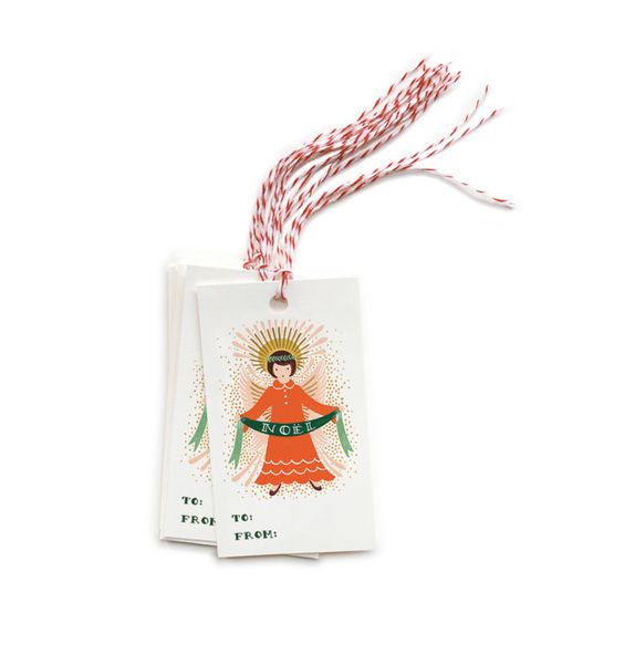 Noel Package of 10 Gift Tags & Tag Ties