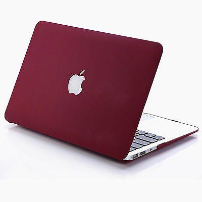 Rubberized Hard Case Shell +Keyboard Cover for New Macbook Pro 13/15 Air 11/13