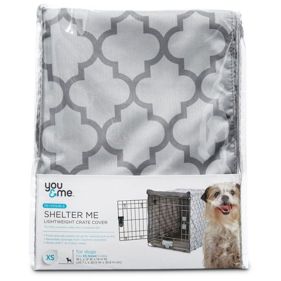 You & Me Shelter Me Lightweight Dog Crate Cover - You & Me Crate Cover. Lightweight crate cover that converts any crate into a stylish covered den. - http://www.petco.com/shop/en/petcostore/you-and-me-shelter-me-lightweight-dog-crate-cover
