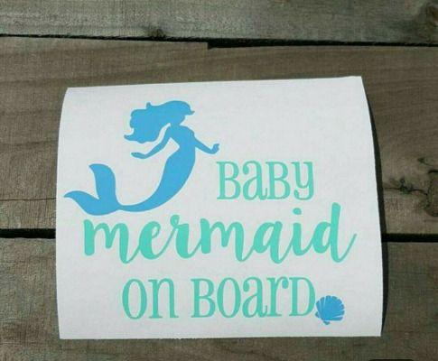 Mermaid on Board Vinyl Decal for laptop windows wall car boat
