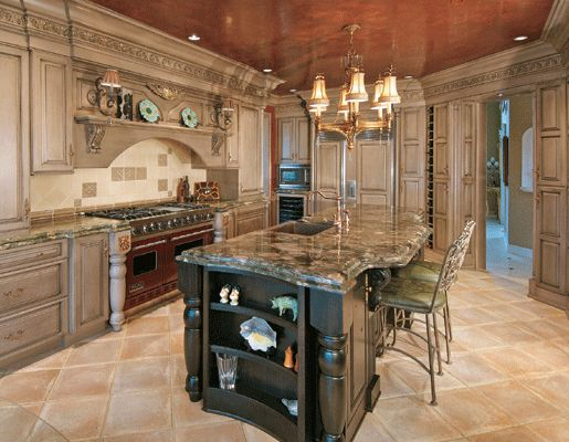 kitchen stove surround cabinets | Featuring rapidly-renewable Lyptus wood, this kitchen has storage ...