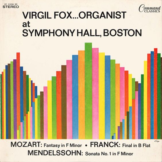 Virgil Fox ... Organist (Command Classics) album cover by...