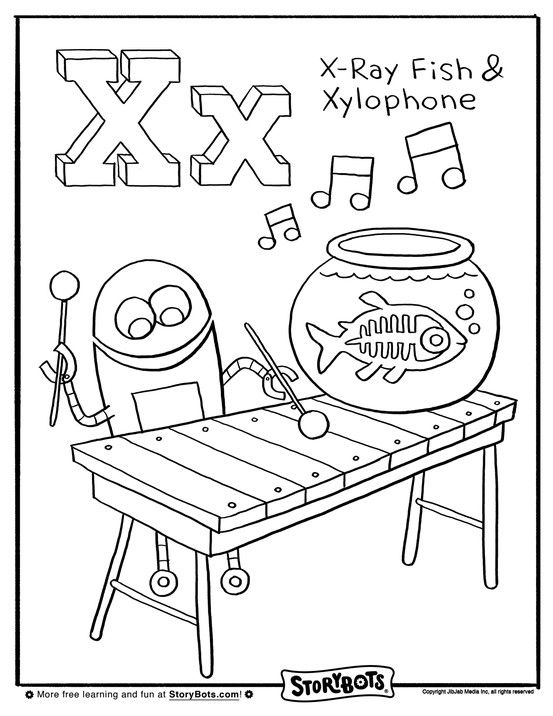 """X"" marks the spot for this coloring sheet! 
