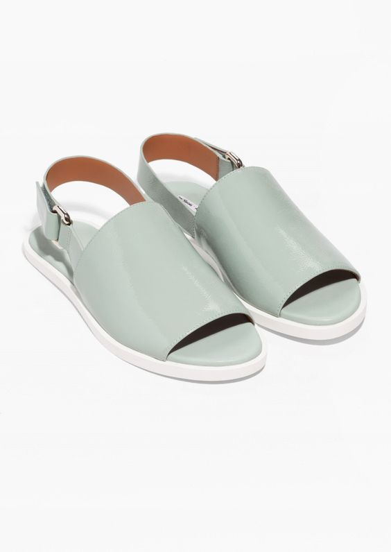 & Other Stories   Ankle Strap Leather Sandals