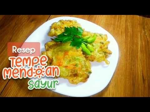 Gurih Dan Renyah Resep Cara Membuat Tempe Mendoan Sayur Youtube Resep Tempe Resep Masakan Resep