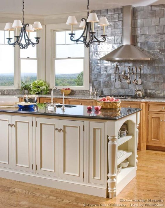 Kitchen idea of the day traditional two tone kitchen by for View kitchens ideas