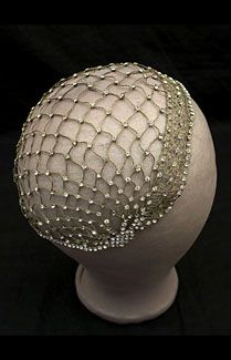 dainty and sparkles 1920s skullcap