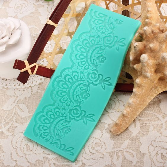 Flower Lace Cake Mold Silicone For Cakes Fondant