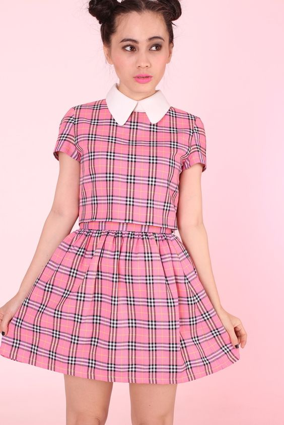 Image of PINK TARTAN CLUELESS INSPIRED SET | Style Up, Darling ...