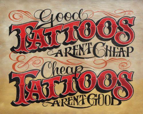 Tattoo Shop Policy Print Art Decor Vintage style Ink Flash Cash studio flash
