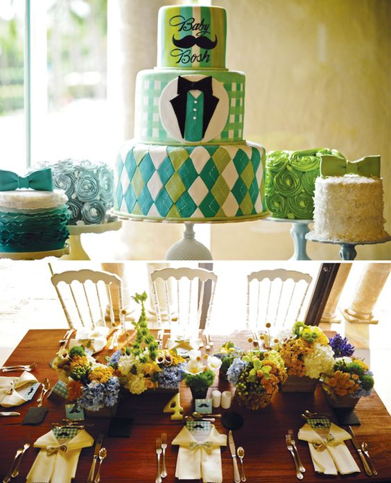 Southern Gentleman Baby Shower - If I have a boy this is the theme I want!: Boy Baby Showers, Baby Cake, Baby Shower Green, Argyle Baby Shower, Mustache Baby Showers, Party Idea, Southern Baby Showers, Baby Boy