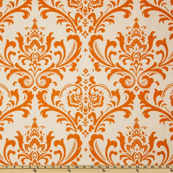 Premier Prints Traditions Natural/Sweet Potato from @fabricdotcom%0A%0AScreen printed on cotton duck; this versatile medium weight fabric is perfect for window accents (draperies, valances, curtains and swags), accent pillows, duvet covers and upholstery. Create handbags, tote bags, aprons and more. *Use cold water and mild detergent (Woolite). Drying is NOT recommended - Air Dry Only - Do not Dry Clean. Colors include sweet potato orange and natural.