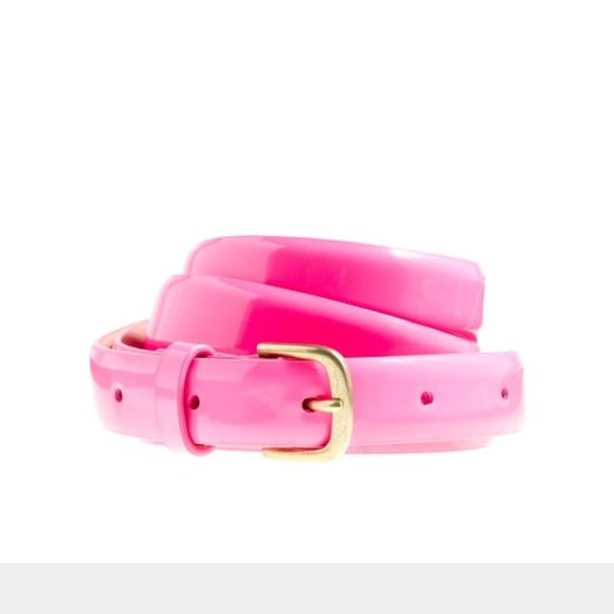 J. Crew Patent Leather Skinny Belt in Pink J. Crew Patent Leather Skinny Belt in Pink in size small. Very light wear. No issues. J. Crew Accessories Belts