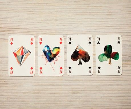 Watercolour Playing Cards