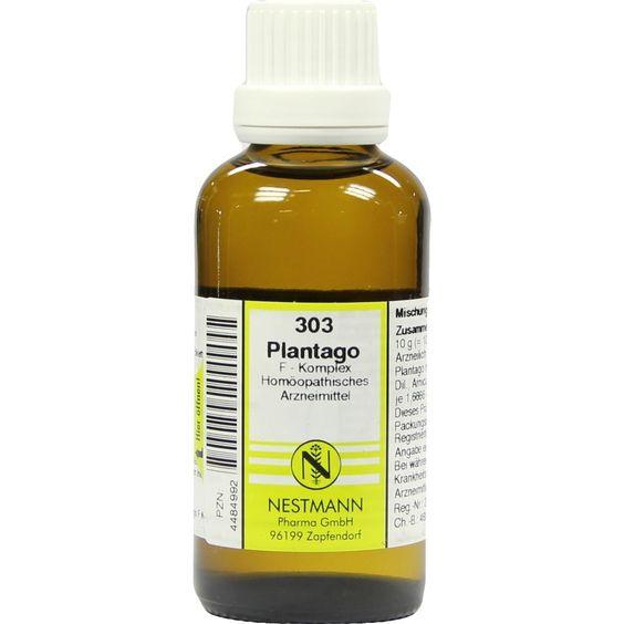 PLANTAGO F Komplex Nr.303 Dilution:   Packungsinhalt: 50 ml Dilution PZN: 04484992 Hersteller: NESTMANN Pharma GmbH Preis: 7,19 EUR inkl.…