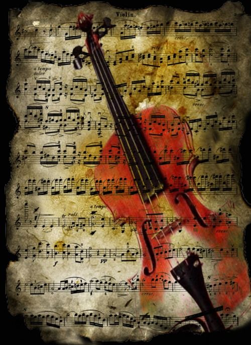 Violin, Sheet music art and Tattoo back on Pinterest