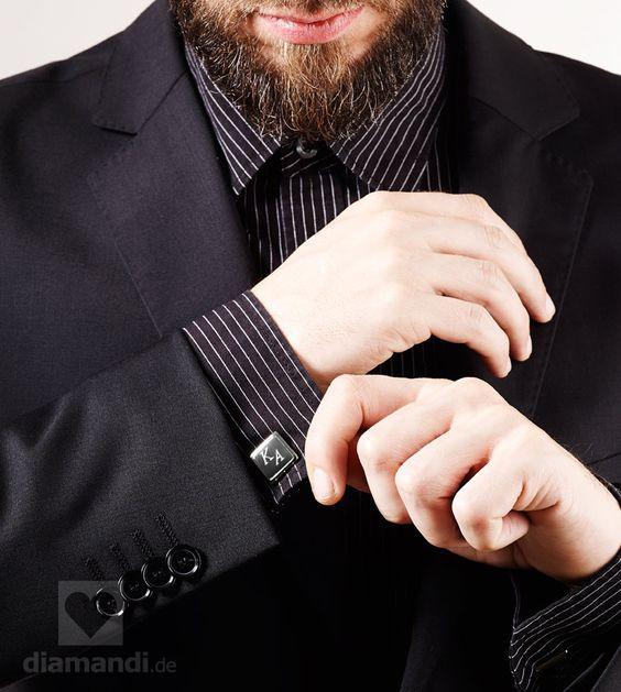 Manschettenknöpfe mit Gravur zur Hochzeit #cufflinks #engraving #engraved #gift #wedding #trauzeuge #graviert #best man