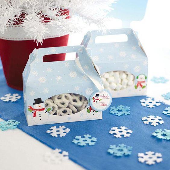 "Geschenkboxen ""Schneemänner"" 4er Pack #Weihnachtsbäckerei #Wichtelgeschenk #Geschenkverpackung"