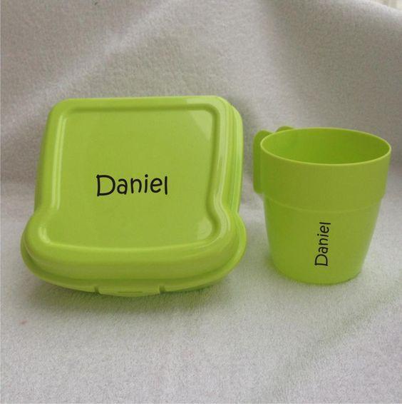 Sandwichera y vasito personalizado