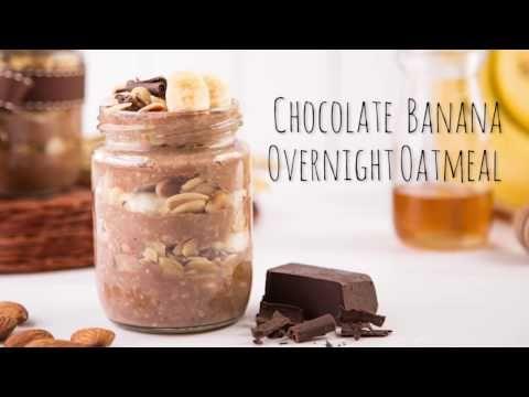 Resep Chocolate Banana Overnight Oatmeal Youtube In 2020 Chocolate Banana Overnight Oatmeal Oatmeal