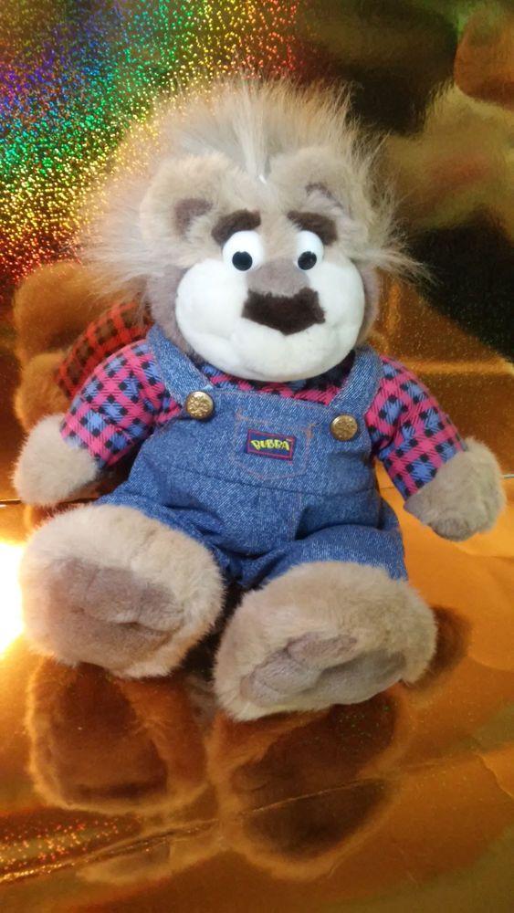 Tyco Redneck Talking BUBBA Bear 1997 Wisecracking Plush Plaid Shirt Overalls 18 Talkingbubba Bubba
